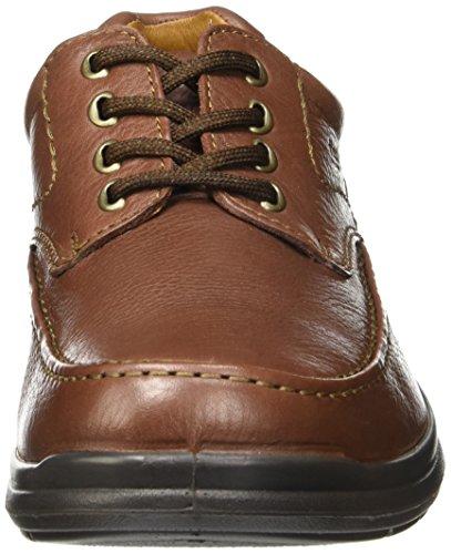 Flexi Scandic 68901 Mens Äkta Brunt Läder Oxford | Komfort Promenadskor | Handgjorda I Mexiko Brun