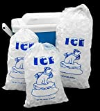 Image of 8 Lb Ice Bags with Drawstring Closure - 400 Bags/case 37 microns Wholesale Lot