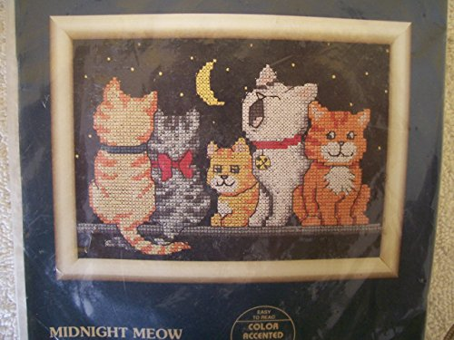 Cross Jiffy Kit Counted Stitch (Midnight Meow Counted Cross Stitch Jiffy 16571)