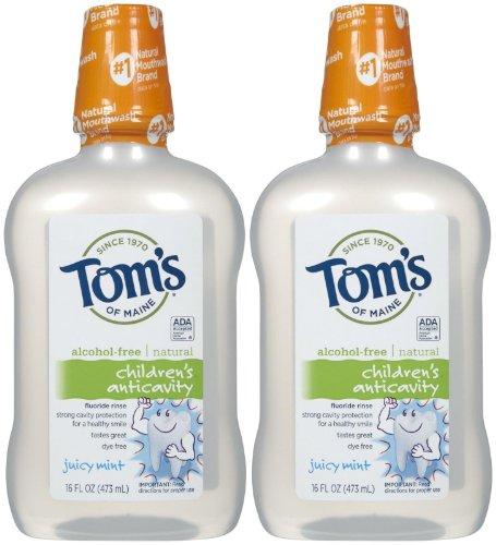 Tom's of Maine Children's Anticavity Rinse, Juicy Mint - 16