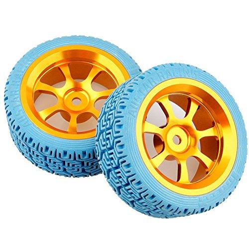 rc aluminum wheel rubber tires