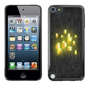 Carcasa Funda Prima Delgada SLIM Casa Case Bandera Cover Shell para Apple iPod Touch 5 / Business Style Glowing Blocks