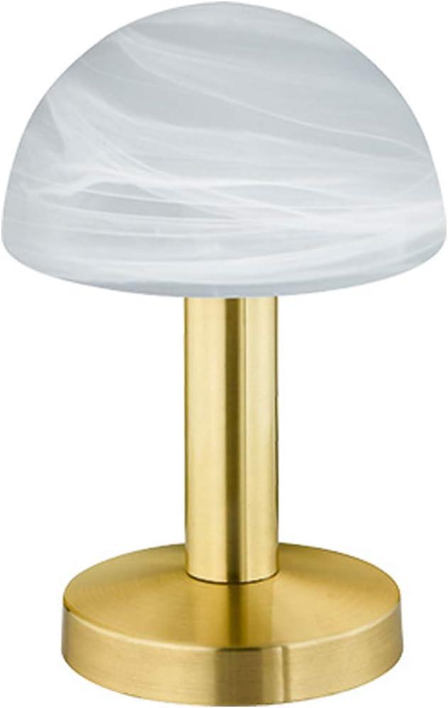 Elegante latón Touch Me – Lámpara de mesa con pantalla de cristal ...