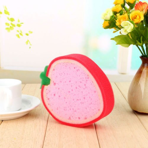 VIPASNAM-Strawberry Kitchen Dish Washing Cleaning Cloth Gadget Sponge Foam Scouring Pad