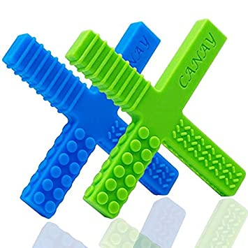 Chew Necklace For Sensory Autism Teething Adhd Oral Motor 1 Pack Medium Blue