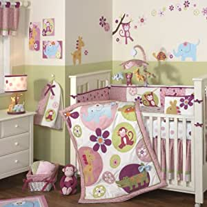 Lambs & Ivy Lollipop Jungle 5 Piece Bedding Set