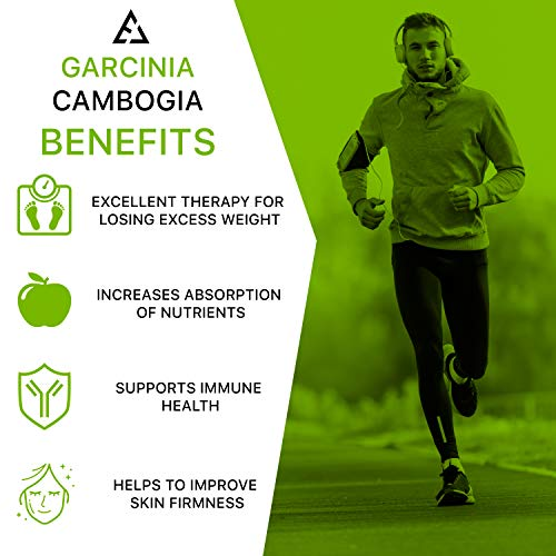 Garcinia Cambogia Extract – Appetite Suppressant and Carb Blocker – Garcinia Cambogia Raw Diet Pills – HCA Extract…