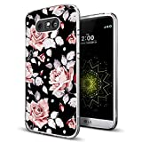 phone cases for a lg slide phone - Rose Case for LG G5,Gifun [Anti-Slide] and [Drop Protection] Clear Soft TPU Premium Flexible Protective Case For LG G5 - Art Elegant Rose