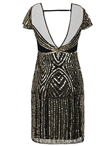 Cocktail Paillette Perle Robe Flapper Gatsby Robe PrettyGuide Or Annes Femmes Dco 1920 4UwS8