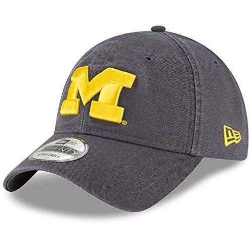 - Michigan Wolverines New Era 9Twenty Core Adjustable Hat - Graphite