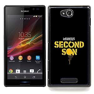 Second Son Caja protectora de pl??stico duro Dise?¡Àado King Case For Sony Xperia C S39h C2305