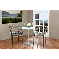 Baxton Studio Electron Smoked Plastic Contemporary Dining Chair (Set of 2)