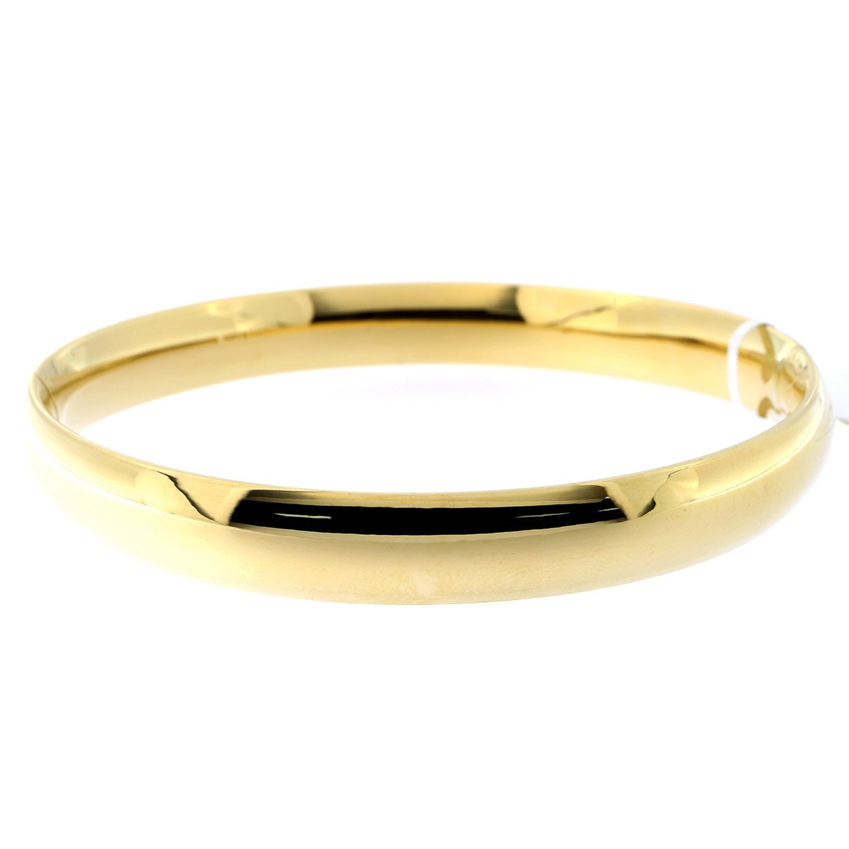 14k Yellow Gold 8 Millimeters Polished Bangle Bracelet, 7 Inches by Beauniq