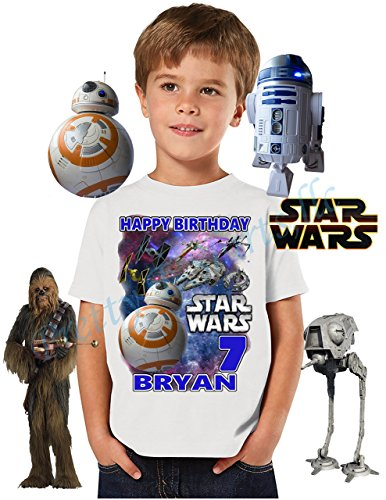 Star Wars BB8 Birthday Shirt, ADD any name & age, Happy Birthday Shirt, FAMILY Matching Shirts, BB8, Star Wars shirt, VISIT OUR SHOP!! by PrettyT-Shirts