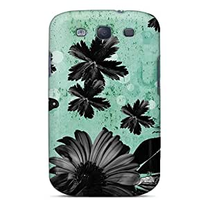 New Style CaseFactory Hard Case Cover For Galaxy S3- Darkness On Cyan