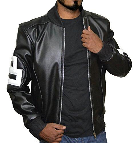 8 Ball Pool Seinfeld Michael Hoban Black Synthetic Leather Bomber Jacket,L