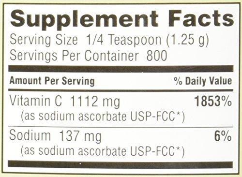 Nutribiotic Sodium Ascorbate Powder, 2.2 Pound by Nutribiotic (Image #2)