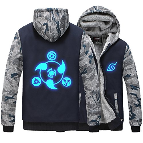 - Holran Naruto Noctilucent Akatsuki Thicken Jacket Cosplay Sweater (X-Large, NavyBlue01)
