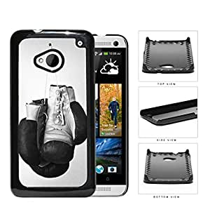 Black and White Boxing Gloves Sports Hard Snap on Phone Case Cover Android HTC One M7