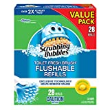 Scrubbing Bubbles Fresh Brush Toilet Cleaner Flushable Refills - 28 Count