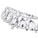 Sunshinesmile Drop Crystal Tiaras Rhinestone Crown Bridal Jewelry