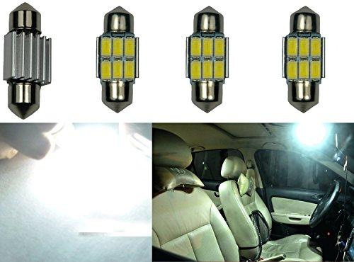"UPC 700161819472, Cutequeen White Canbus error free 300 Lumens 5730 6-SMD 31mm(1.25"") 12V Festoon Dome Light LED Bulbs DE3175 DE3021 DE3022 3175(pack of 4)"