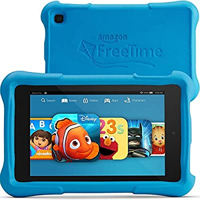 "Fire HD 7 Kids Edition, 7"" HD Display, Wi-Fi, 16 GB, Blue Kid-Proof Case"