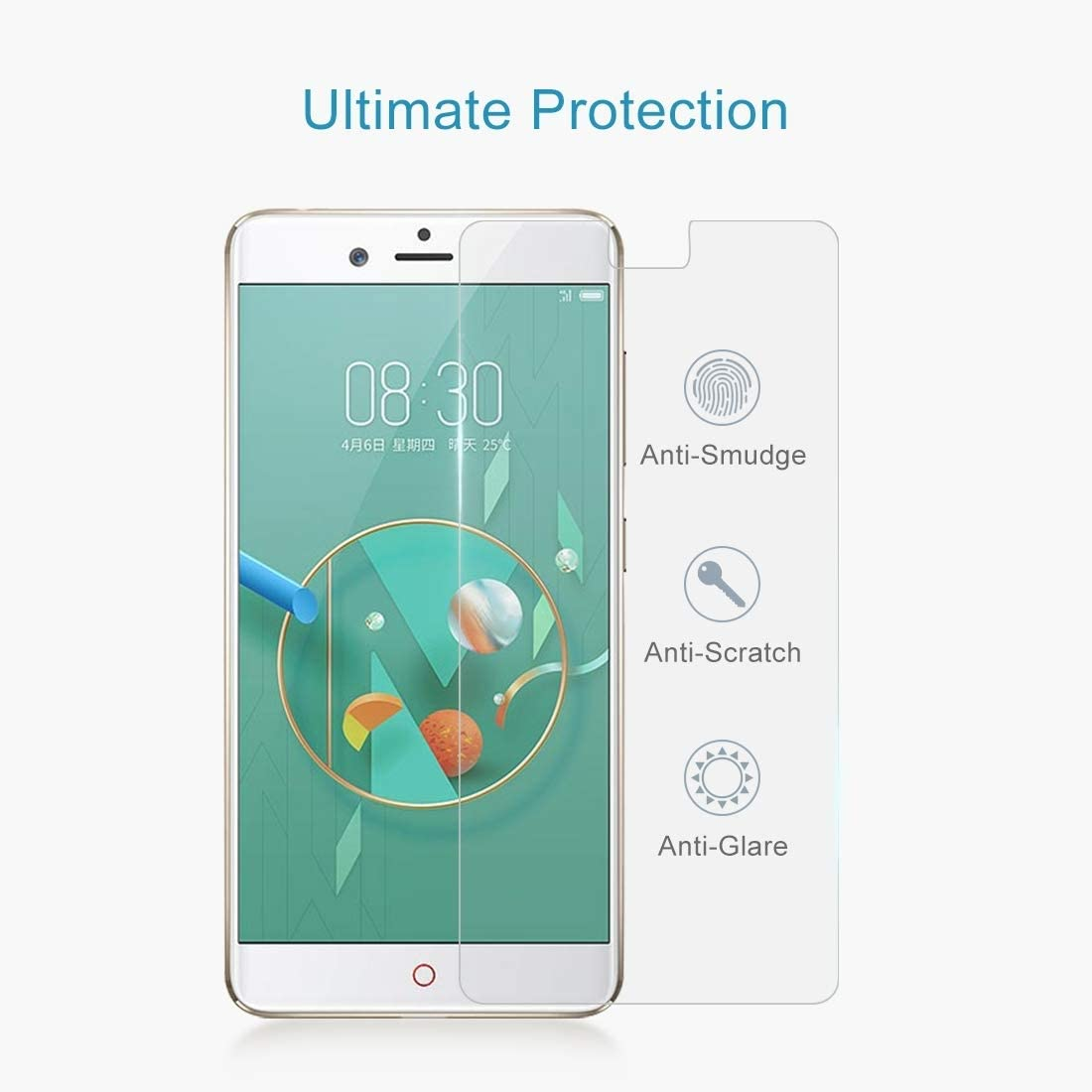 SHUHAN Tempered Glass Film 100 PCS 0.26mm 9H 2.5D Tempered Glass Film for ZTE Nubia Z17 Mini Mobile Phone Screen Protector