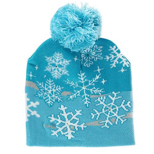 Supervisor Lotsa Lites! Flashing Holiday Christmas Knitted Hat (Snowflake)