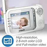 VTech VM321 Video Baby Monitor with Automatic Infrared Night Vision, Adjustable Camera, Zoom, 5 Soothing Lullabies & 1,000 Feet of Range