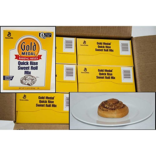 Gold Medal Quick Rise Sweet Roll Yeast Mix 6 Case 5 Pound by General Mills