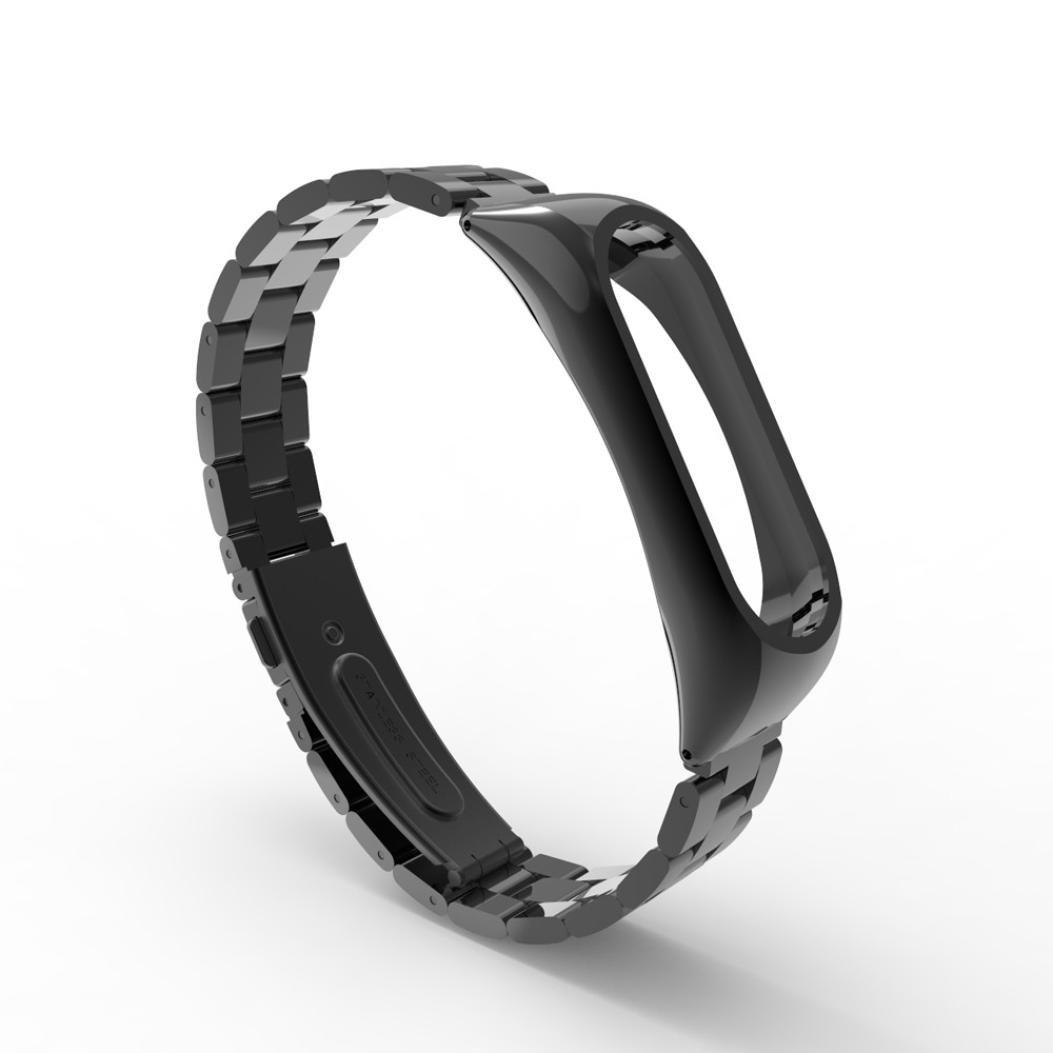 ❤️ Manadlian para Xiaomi Mi Band 2 Acero Inoxidable Pulsera Metal Ultrafino Correa