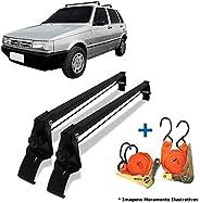 Rack Teto Fiat Uno Mille 4 Portas 84 A 13 + 2 Cintas Catraca