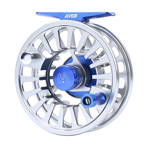 M MAXIMUMCATCH Maxcatch Avid Fly Fishing Reel with CNC-machined Aluminum Alloy Body 3/4,5/6, 7/8wt (Silver,Black,Blue,Green) (Silver, 3/4 wt)