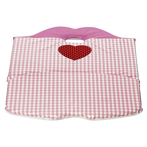 H3 Baby W041 Sitzverkleiner Treppenhochsthuhl Valerie und Alex viereck mit Herz, rosa
