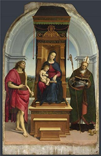 Oil Painting 'Raphael-The Ansidei Madonna,1505' Printing On Perfect Effect Canvas , 10x15 Inch / 25x39 Cm ,the Best Living Room Gallery Art And Home Gallery Art And Gifts Is This Vivid Art Decorative Prints On