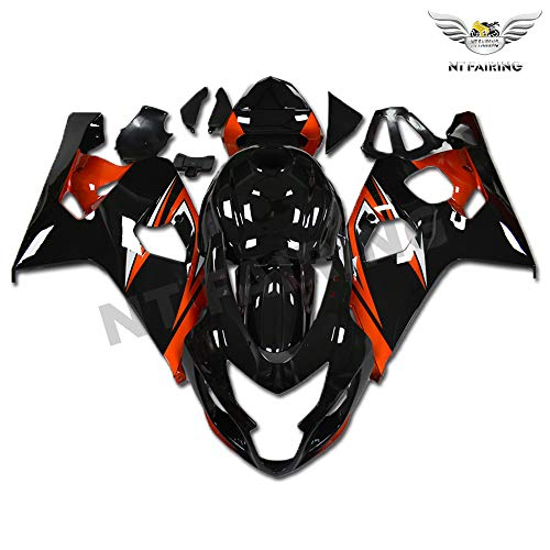 Oem Suzuki Fairings - New Orange Black Fairing Fit for SUZUKI 2004 2005 GSXR 600 750 Injection Mold ABS Plastics Bodywork Bodyframe 04 05