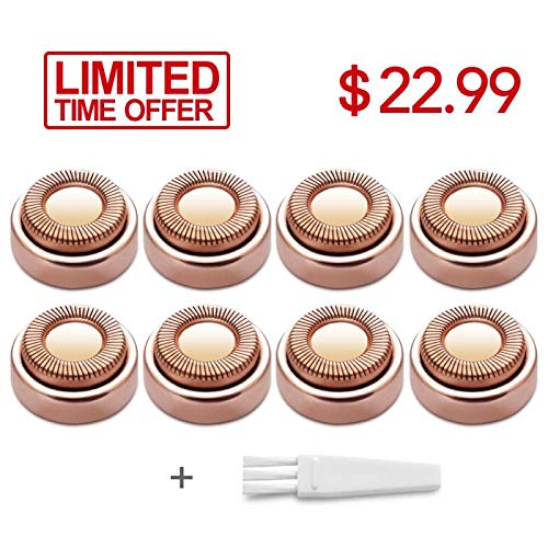 Facial Hair Remover Replacement Blade Heads, 18K Rose Gold Plated  Replacement Heads