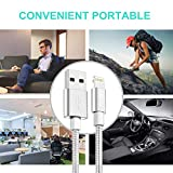 TUUBEE 5Pack[3/3/6/6/10FT] Nylon Braided Cell-Phone Charging Cable USB Fast Charging & Syncing Long Cord,iPhone Charger Compatible iPhone XS/Max/XR/X/8/8P/7/7P/6/iPad/iPod