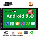 EinCar Car Radio Double Din Android 9.0 Car Stereo 2 Din GPS Navigation 7 inch Touch Screen Bluetooth Head Unit in Dash Quad Core 16GB Support SWC WiFi Mirrorlink 1080P FM Video Player