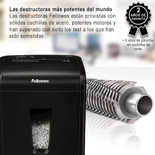 14 hojas Fellowes 99Ms negro microcorte Destructora trituradora de papel