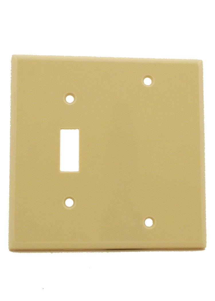 Leviton 86006 2-Gang 1-Toggle 1-Blank Device Combination Wallplate ...