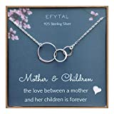 EFYTAL-Mom-2-Children-Necklace-Sterling-Silver-Three-3-Interlocking-Infinity-Circles-Mothers-Day-Jewelry-Gift