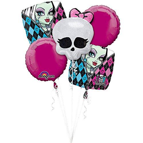 Monster High Balloon Bouquet - 5 Pack -