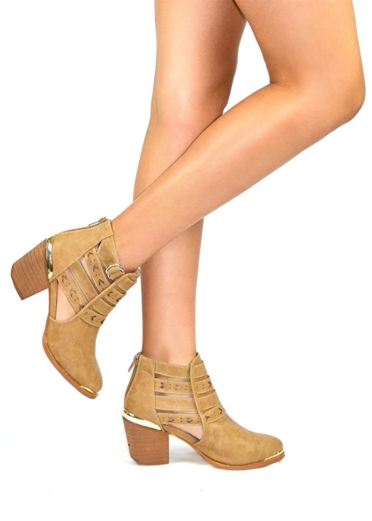 Chase & Chloe Coddy-2 Ankle Women's Bootie Adjustable Closure Ankle Strap Closure Adjustable B074ZQBTQ2 Boots d34008