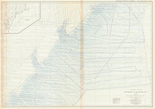 1939 Bathymetric Map   Historical United States - East Coast Southeast Of Delaware Bay, USA  