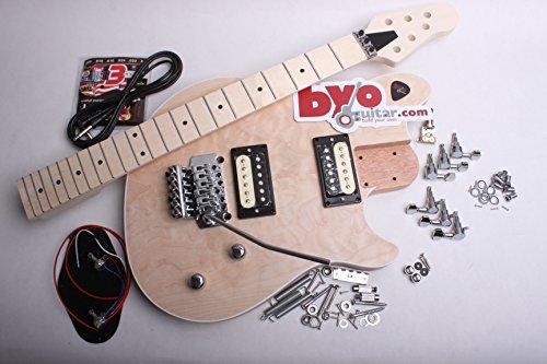 (BYOGuitar Guitar Kit Quilt Top with Zebra Humbuckers)