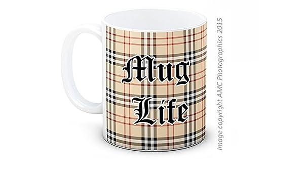 Mug Life - Thug Life Parodia - Alta calidad café taza de té: Amazon.es: Hogar