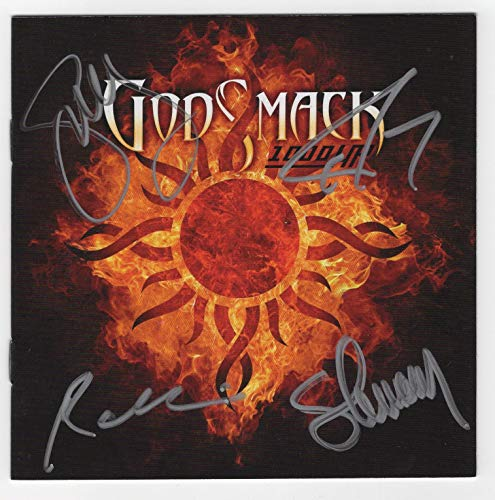 Godsmack Autographed 1000 HP CD Booklet Cover (signed by entire band)