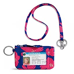 Vera Bradley Zip Id Case and Lanyard in Art Poppies